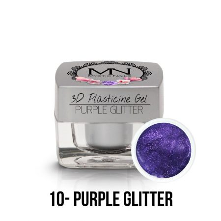 3D Gel purple glitter