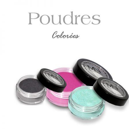 Poudres acryliques colorées