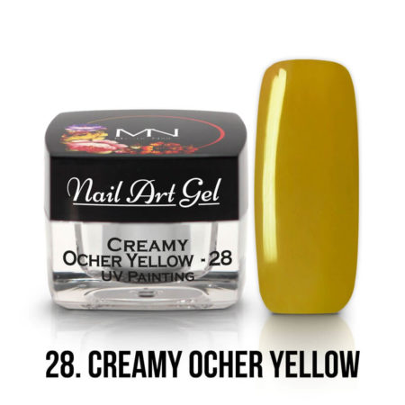 UV Painting Nail Art Gel - 28 - Creamy Ocher Yellow - 4g