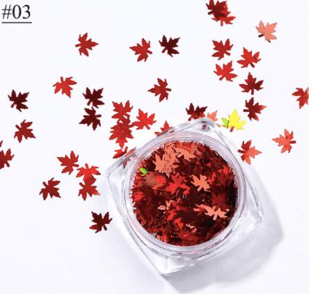 Feuille d'automne rouge