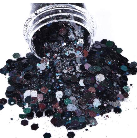 Paillettes holographiques noir