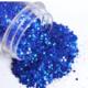 Paillettes holographiques bleu
