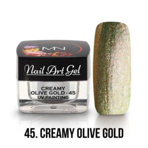 UV Painting Nail Art Gel - 45 - Creamy Olive Gold - 4g