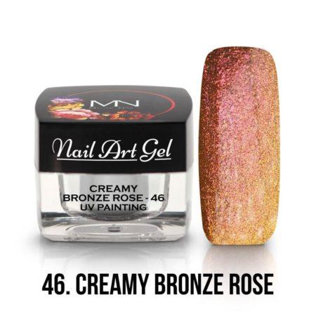 UV Painting Nail Art Gel - 46 - Creamy Bronze Rose - 4g